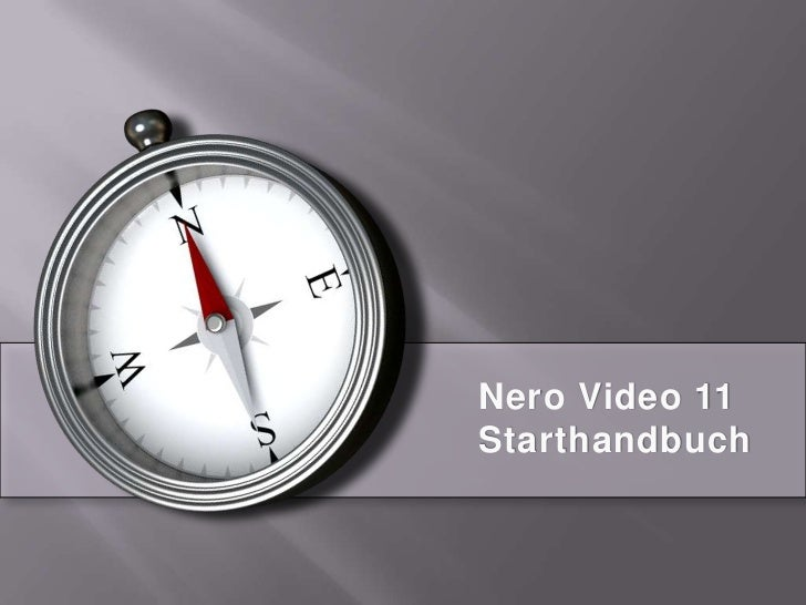 Nero Video 11Starthandbuch