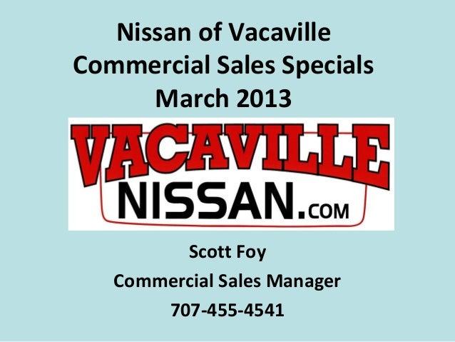 Nissan Nv Cargo Van Specials Vacaville Ca
