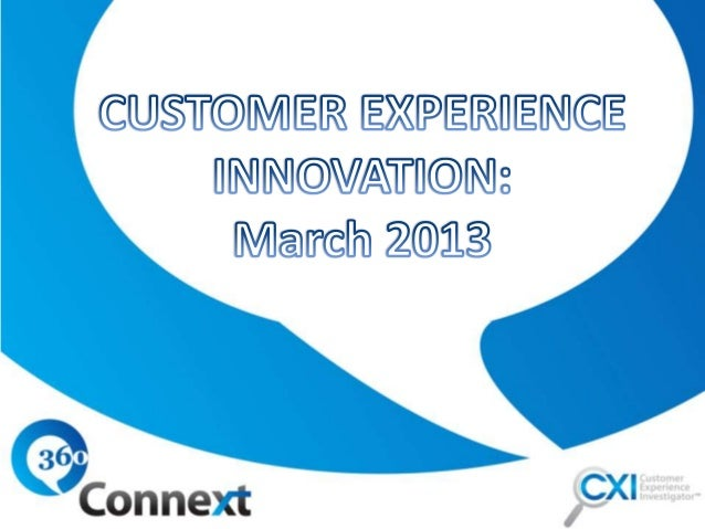 During March, we investigatedcustomer experience innovations.Our innovation investigation includedexploring how companies ...