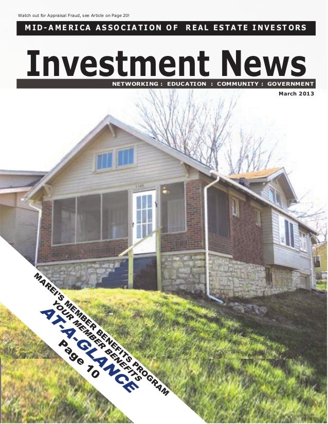 Watch out for Appraisal Fraud, see Article on Page 20!   MID-AMERICA ASSOCIATION OF                                       ...