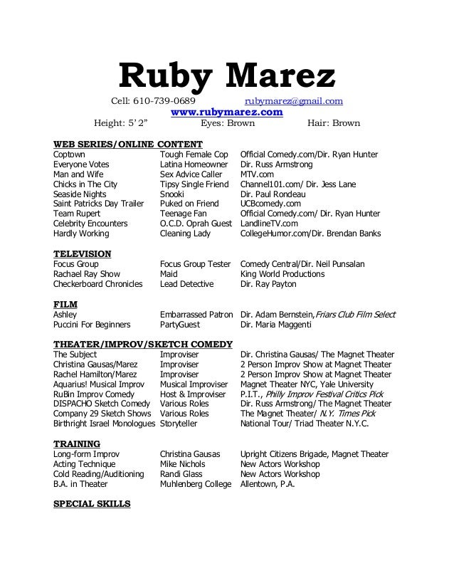 Ruby Marez Cell: 610-739-0689 ...