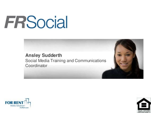 Ansley SudderthSocial Media Training and CommunicationsCoordinator
