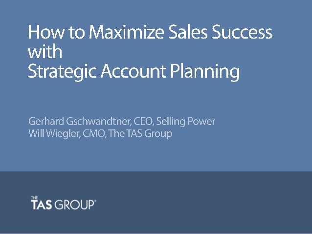 sales account planning template