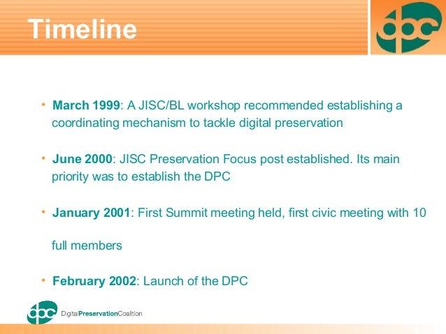 20yrs:  2004 The Digital Preservation Coalition (DPC) Slide Set June Slide 2