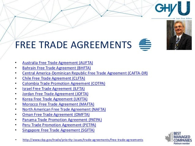 Ghy University Global Free Trade Agreements Case Studies Of Utiliz