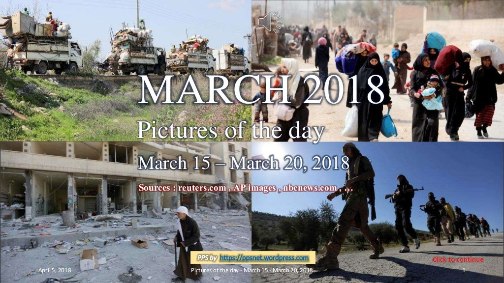 MARCH 2018 - Pictures of the day - March 15 - March 20, 2018