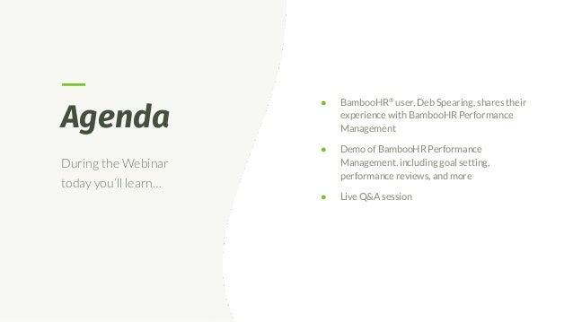 Customer Success: BambooHR Performance Management Slide 3