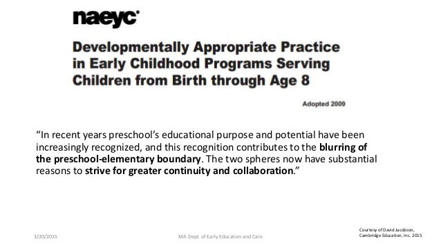 """""""In recent years preschool's educational purpose and potential have been increasingly recognized, and this recognition con..."""