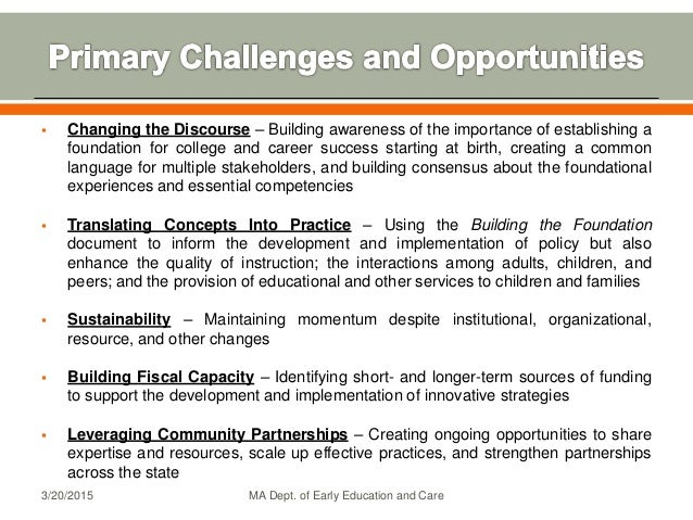  Changing the Discourse – Building awareness of the importance of establishing a foundation for college and career succes...