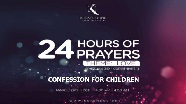 CONFESSION FOR CHILDREN