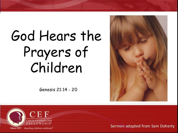 God Hears The Prayers Of Children
