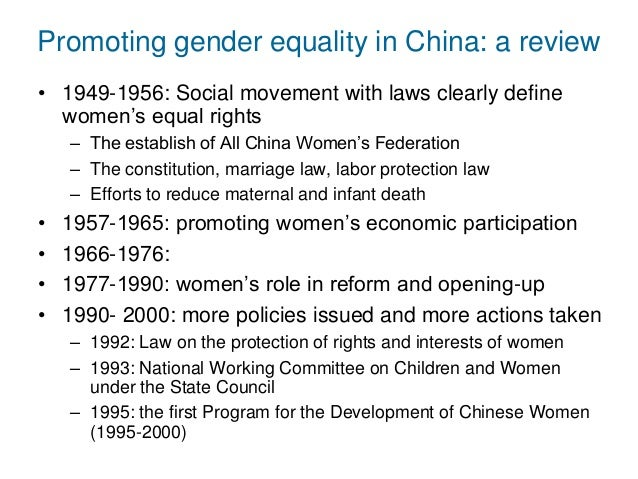 a review of the gender equality in the 1990s Boys in relation to social change and gender equality  trends impacting on gender equality the review of evidence found that social,  since the 1990s,.
