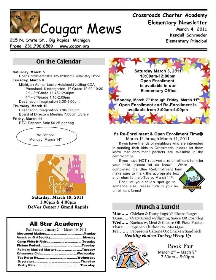 Crossroads Charter Academy                                                                            Elementary Newslette...