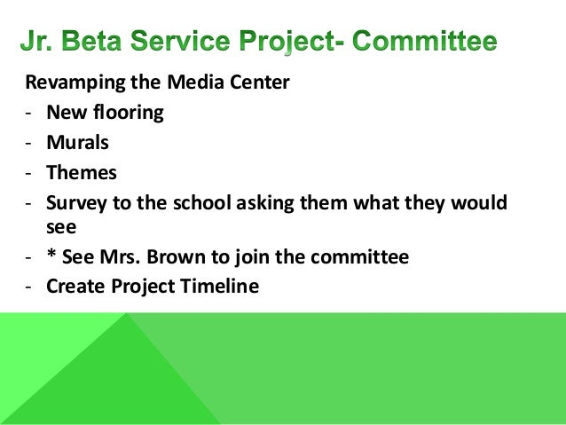 Revamping the Media Center - New flooring - Murals - Themes - Survey to the school asking them what they would see - * See...