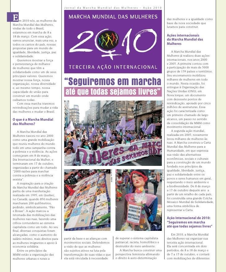 Jornal da Marcha Mundial das Mulheres – Ação 2010         m 2010 nós, as mulheres da                                      ...