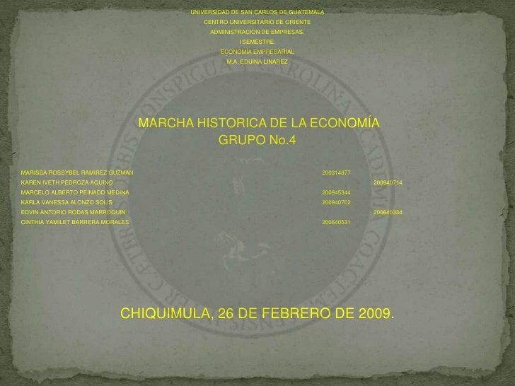 UNIVERSIDAD DE SAN CARLOS DE GUATEMALA<br />CENTRO UNIVERSITARIO DE ORIENTE<br />ADMINISTRACION DE EMPRESAS.<br />I SEMEST...
