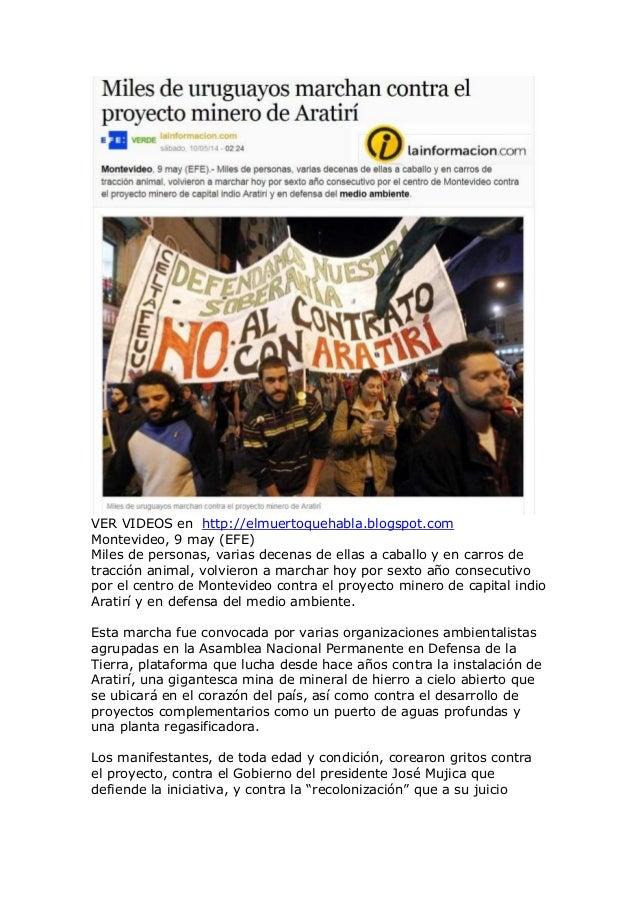 VER VIDEOS en http://elmuertoquehabla.blogspot.com Montevideo, 9 may (EFE) Miles de personas, varias decenas de ellas a ca...