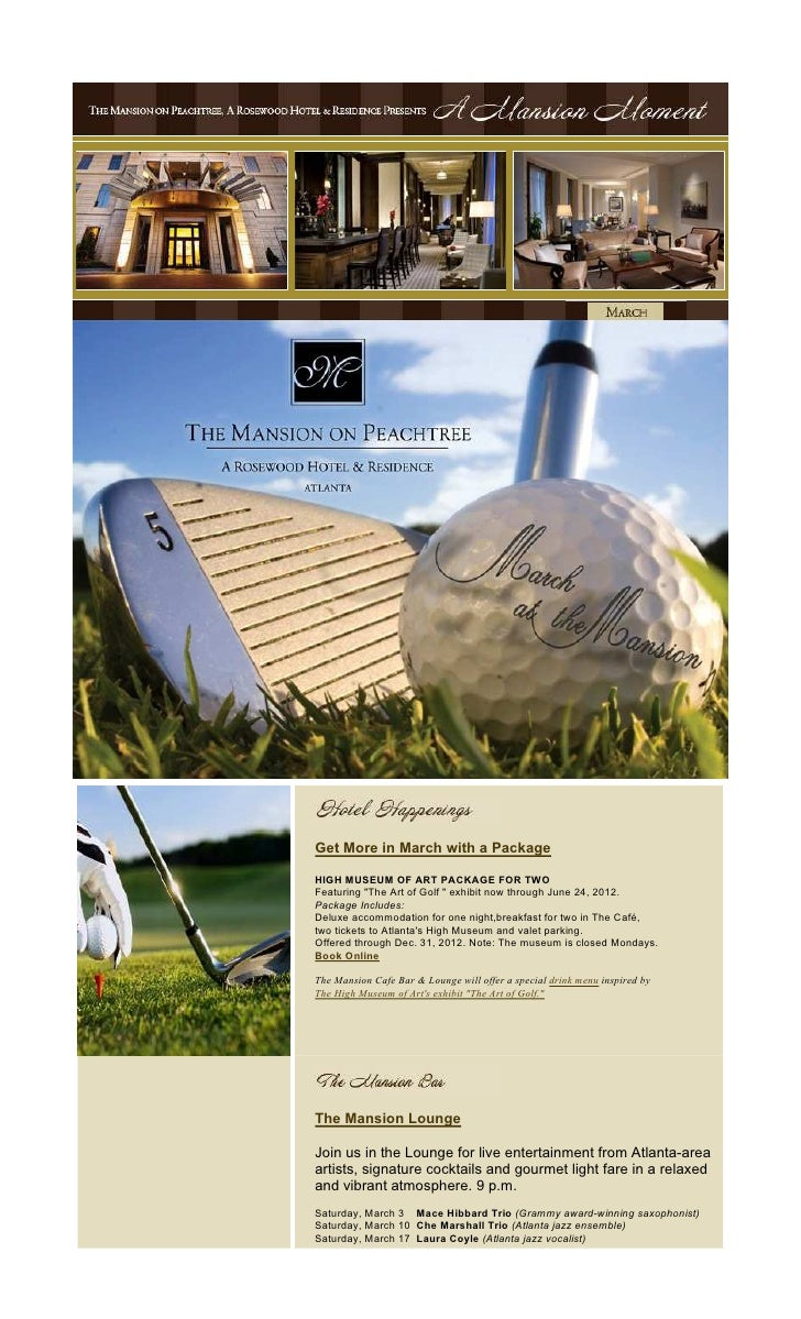 """Get More in March with a PackageHIGH MUSEUM OF ART PACKAGE FOR TWOFeaturing """"The Art of Golf """" exhibit now through June 24..."""