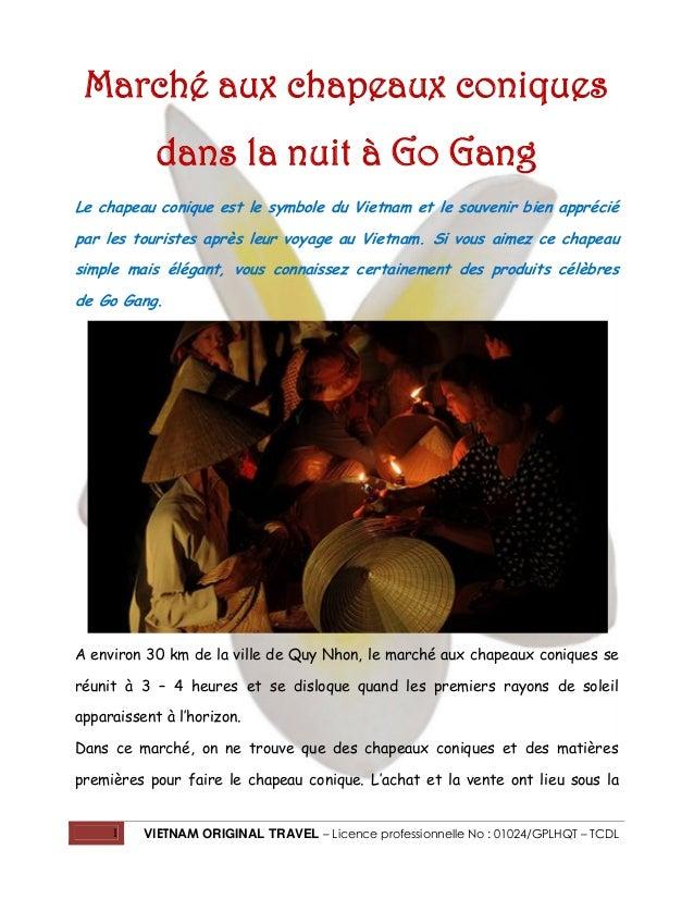 Marché aux chapeaux coniques dans la nuit à Go Gang Le chapeau conique est le symbole du Vietnam et le souvenir bien appré...