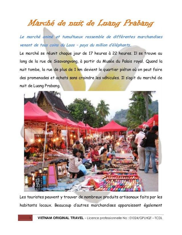 Marché de nuit de Luang Prabang Le marché animé et tumultueux rassemble de différentes marchandises venant de tous coins d...