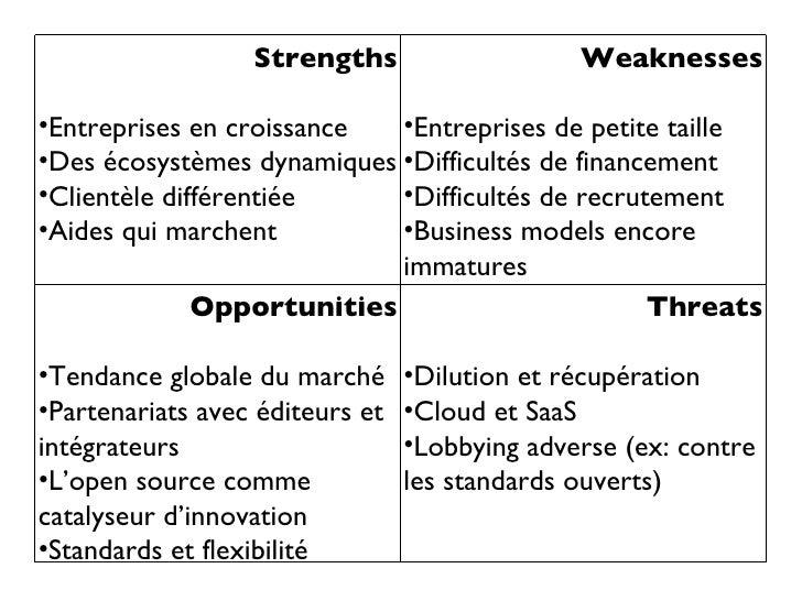 <ul><li>Strengths </li></ul><ul><li>Entreprises en croissance </li></ul><ul><li>Des écosystèmes dynamiques </li></ul><ul><...