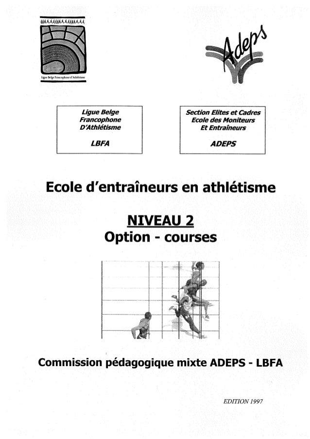 Marche athletique option courses