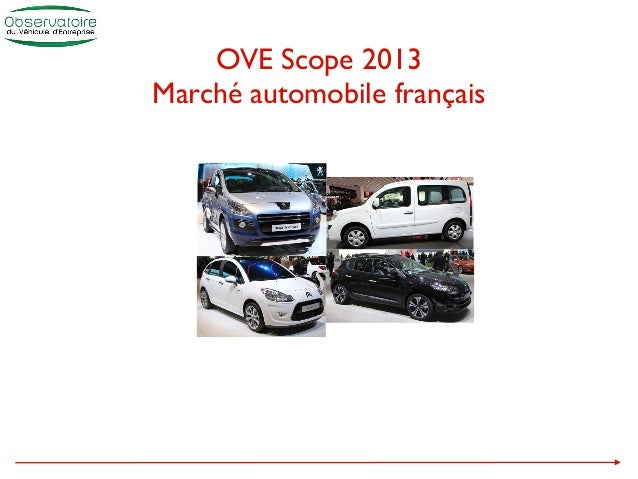 OVE Scope 2013Marché automobile français