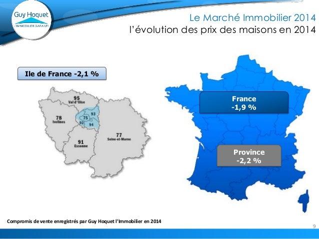 9  Compromis 2014 dans le réseau GHI vs 2013  Le Marché Immobilier 2014  l'évolution des prix des maisons en 2014  Ile de ...
