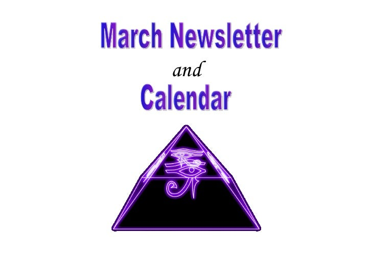 and March Newsletter Calendar
