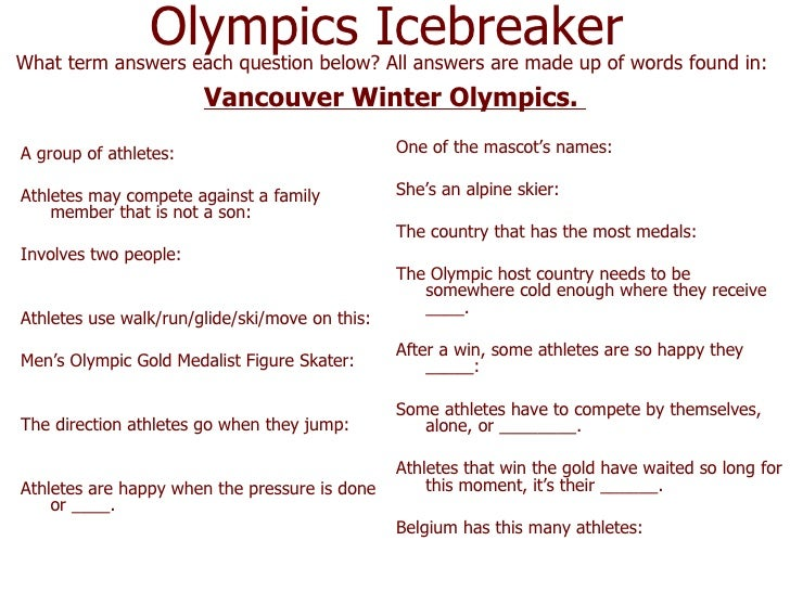 <ul><li>A group of athletes: </li></ul><ul><li>Athletes may compete against a family member that is not a son: </li></ul><...