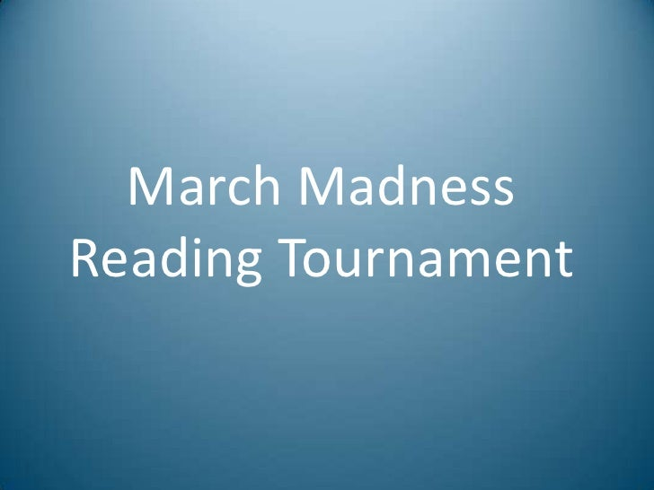 March Madness Reading Tournament<br />
