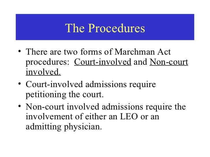 Marchman Act Training