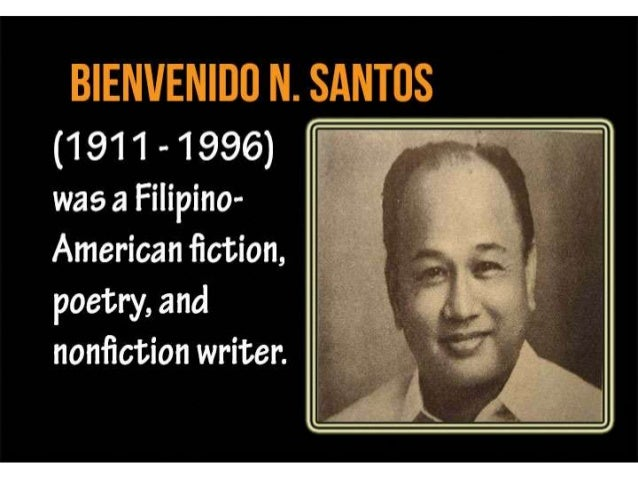 bienvenido santos A lagniappe comes with this overdue collection of short stories by bienvenido n  santos, one of the eminences of filipino-american literature: several of the.