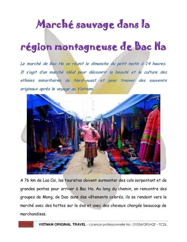 Marché sauvage dans la région montagneuse de Bac Ha Le marché de Bac Ha se réunit le dimanche du petit matin à 14 heures. ...