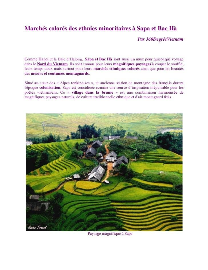 Marchés colorés des ethnies minoritaires à Sapa et Bac Hà                                                                 ...