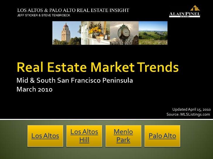 Updated April 15, 2010                                      Source: MLSListings.com                Los Altos   Menlo Los A...