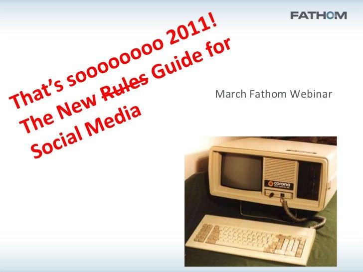 March Fathom Webinar