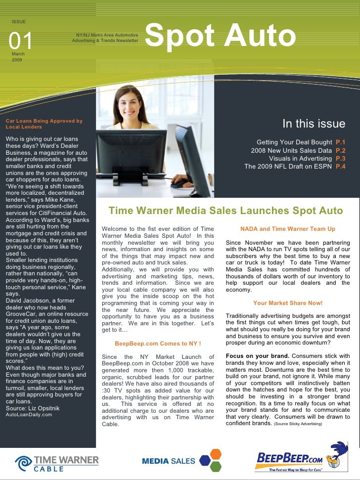 NY/NJ Metro Area Automotive Advertising & Trends Newsletter Spot Auto  Car Loans Being Approved by Local Lenders Who is gi...