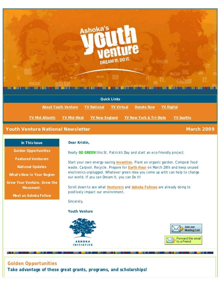 Quick Links                     About Youth Venture       YV National   YV Virtual    Donate Now       YV Digital         ...
