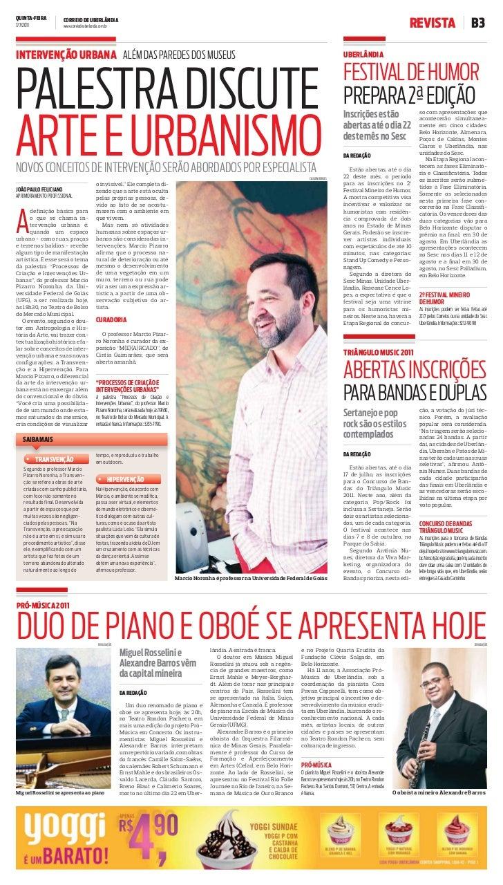 QUINTA-FEIRA7/7/2011                       CORREIO DE UBERLÂNDIA                       www.correiodeuberlandia.com.br     ...