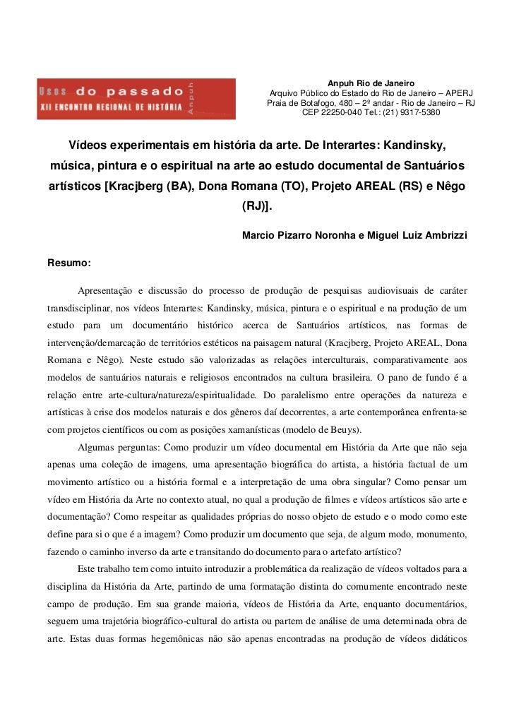 Anpuh Rio de Janeiro                                                      Arquivo Público do Estado do Rio de Janeiro – AP...