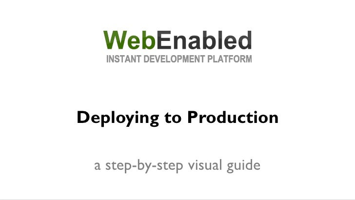 Deploying to Production    a step-by-step visual guide