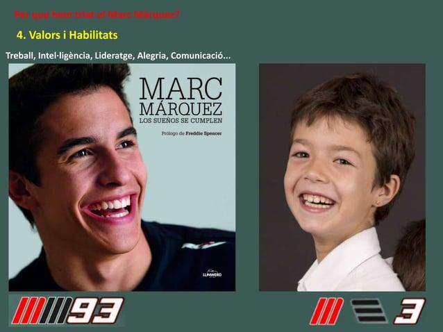 4. Valors i Habilitats Per que hem triat el Marc Màrquez? Treball, Intel·ligència, Lideratge, Alegria, Comunicació...