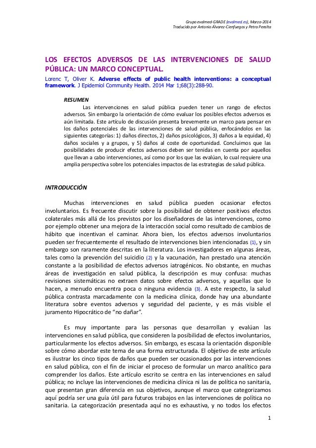 Grupoevalmed‐GRADE(evalmed.es),Marzo‐2014 TraducidoporAntonioÁlvarez‐CienfuegosyPetraPeralta 1  LOS EFECTOS...