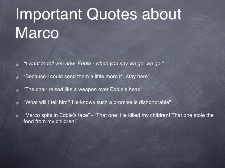 a view from the bridge marco quotes