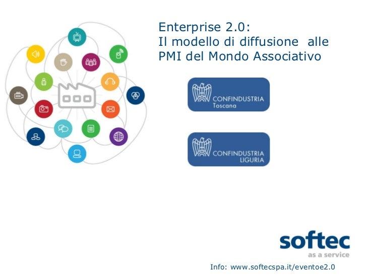 Enterprise 2.0: Il modello di diffusione  alle PMI del Mondo Associativo Info: www.softecspa.it/eventoe2.0