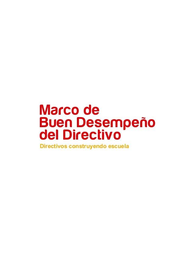 MARCO DEL BUEN DESEMPEÑO DIRECTIVO Slide 3