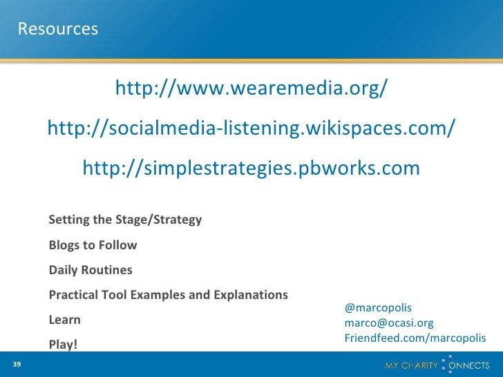 Marco Campana - Really Simple Strategies Keeping Track Of ...