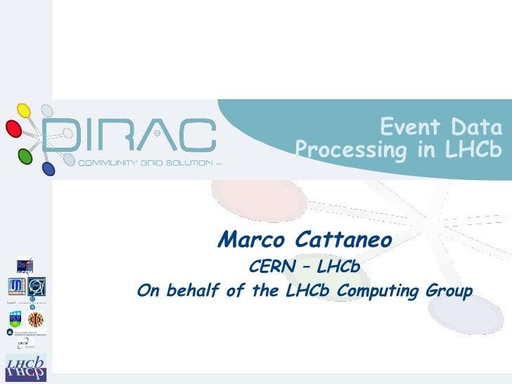 Event Data                 Processing in LHCb        Marco Cattaneo             CERN – LHCbOn behalf of the LHCb Computing...