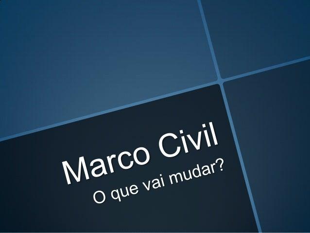 Sancionado pela presidente Dilma Rouseff em 23 de abril de 2014. O Brasil discutiu por 4 anos o Marco Civil na internet, q...